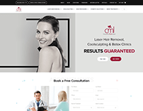 Laser Hair Removal Clinic Website Landing Page Design