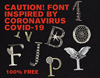 Caution! Font - Inspired by Coronavirus COVID-19