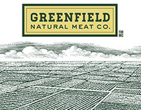 Greenfield Natural Meat Labels Rendered by Steven Noble