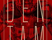 2016 Gameday Preview Poster Denver vs Tampa Bay