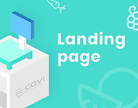 Landing page for Covi