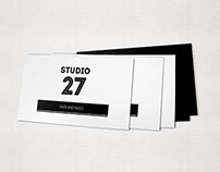 Studio 27  Business card