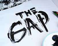Calligraphy logotype for «The Gap»