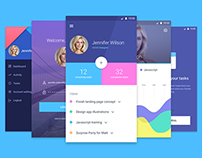 Mobile Material Screens FREE PSD