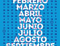 Impresión Serigráfica - Calendario 2013