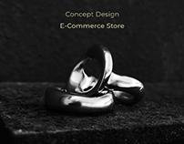 Concept Design Zloy Jewelry E-Commerce Store