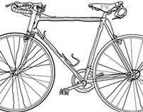 bike textile print