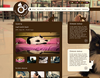 Cat Café Budapest website design