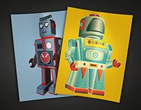 Vintage-inspired robots
