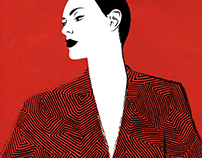 MINIMALIST FASHION ILLUSTRATION / RED