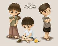 TOI THAY HOA VANG TREN CO XANH - FANART