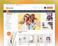 CARNET  - eCommerce PSD design