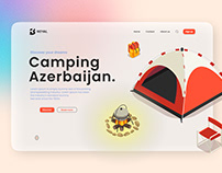 """Camping Azerbaijan"" landing page."