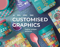Customised Graphics Square Patterns By:Designnina