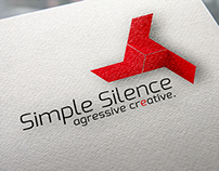 SimpleSilence corporate graphic identity.