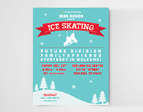 Ice Skating Event Flyer
