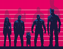 USUAL GUARDIANS OF THE GALAXY Poster Art