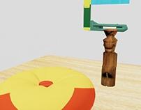 Ejercicio de Modelado 3D con letra inicial