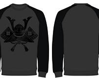 Fashion flat design of men's sweatshirt