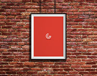 Free Bricks Wall Hanging Frame Poster Mockup PSD
