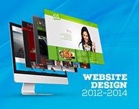 WEBSITE DESIGN 2012-2014