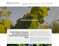 Diseño web Bodega Pago Casa Gran