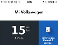 Mi volkswagen app menu