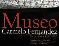 Afiche publicitario turistico Museo Carmelo Fernandez