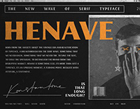 HENAVE - Strong Display Serif Font