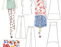 Day Dress Illustration, Fall 2016: Tracey Reece