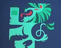 Tea Collection Rampant Lion T-Shirt Design