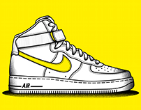 Nike Air Force One ilustration