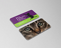 Business card veterinary cats