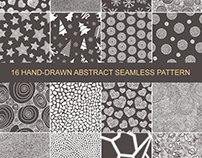 Set of seamless pattern hand-drawn