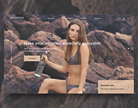 #DailyUI Landing page of Internet-shop