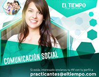 EL TIEMPO: Recruitment Ads - Internships