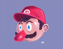 Digital Painting - Super Mario