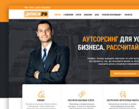 Corporate site for an outsourcing company