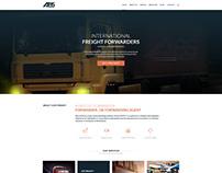 Web design for a cargo company
