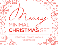Merry Minimal Christmas Set