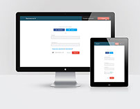 Free Flat Login and Sign up Design