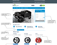 Expanded Brand page for wheels.