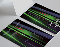 Industrial Project: Z Fold Leaflet & Business Cards