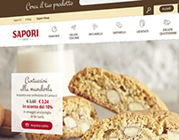 Website e-commerce for Sapori