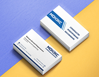 "Business card for construction company ""Monex"""