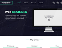 Web site template, web design
