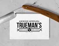 «TRUEMAN'S» barbershop / Logo & Identity