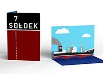 Sołdek - 70th Anniversary | 3D Pop Up Postcard