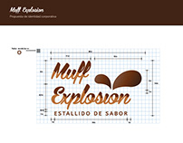 Commercial logo creation for a muffins brand