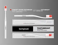 concept design toothbrush and packaging